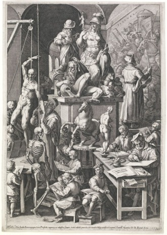 Jan van der Straet and Cornelis Cort 'The Practice of the Visual Arts' (1578) British Museum.